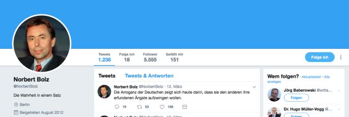 Norbert bolz twitter